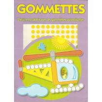 Dessine et Colorie avec les Gommettes Autocollantes - Couverture Violette