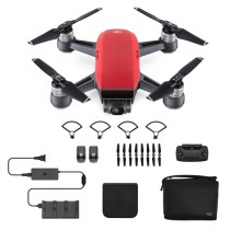 DJI Spark Fly More Combo, 2-Axis, 12MP Still Photos, Lava Red