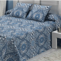 Mora, Cora, Bed Cover, Double Navy