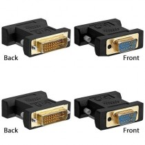 Top Converter VGA to DVI Female to Female Adapter Gold Plated for Gaming, DVD, Laptop, HDTV, Projector - G167C