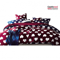 Home Design, Heart, Bed Set, 100 percent Cotton