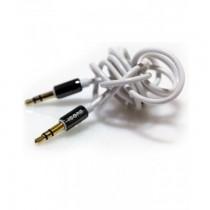 ICONZ Rubberized Jack AUX Cable with Chrome plug 1 m- Black