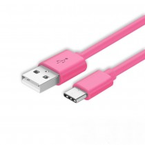 ICONZ Flat micro USB Cable 1.2 m rubberized finishing-pink