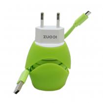 Iconz Universal Stylish Dual USB Wall Charger, Green