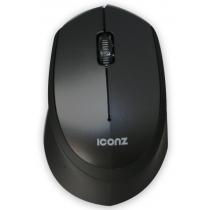 Iconz Wireless, Silent Click Mouse, Black, Rubberized - IMN-WM02K