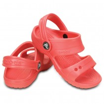 Crocs, Kid's Classic Sandal, Coral