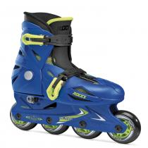 Roces Orlando III Kid's Adjustable Inline Skates- Blue/ Lime
