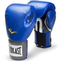 Everlast Men's Velcro Pro Style Training Gloves, Blue