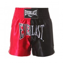 Everlast Men's Thai Boxing Shorts, Black/Red