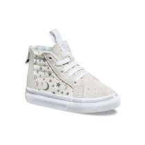 Vans, T Sk8-Hi Zip Shoes, Star Glitter White