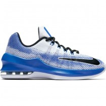 Nike Boy's Air Max Infuriate Low (Gs) 185,220 Shoe- White/ Navy