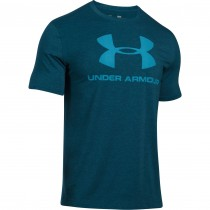 Under Armour Men's Training Sportstyle Logo Tshirt- Black/ Blue