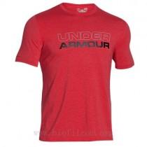 Under Armour, Men Cotton Wordmark Stack, Red