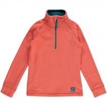 O'Neill, Girl's Slope Half Zip Fleece, Fusion Coral