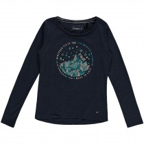 O'Neill, Girl's Bliss View Long Sleeve Tshirt, Ink Blue