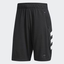 Adidas Men's Basketball Accelerate Short- Black& White
