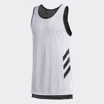 Adidas Men's Basketball Accelerate Tank- White& Black