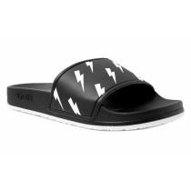 Slydes Men's Lifestyle Tazer Slippers- Black& White