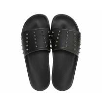 Slydes Men's Lifestyle Nova Spike Slippers- Black