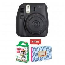 Fujifilm Instax Mini 8 Instant Camera + Instant Photo Album + Instax Mini Film White/Black/Blue/Pink