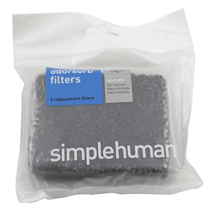 simplehuman Odorsorb Filter Refills, Natural Charcoal (2 Pack)