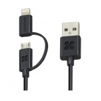 Promate LinkMate.Duo Dual-Head Sync and Charge Cable, Available in 2 Colors
