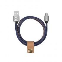 Powerology 1m Denim Lightning Cable - Blue