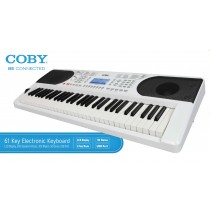 Coby Keyboard Electronic Piano Portable 61 Key - CMK9061