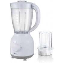 Midea blender, 1.5L AS jar, 0.4L grinder cup, 350 W , White - MJ-BL40G1