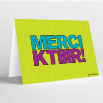 Mukagraf, Merci Ktiir, Greeting Card