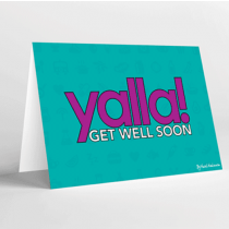Mukagraf, Yalla, Get Well Soon, Greeting Card