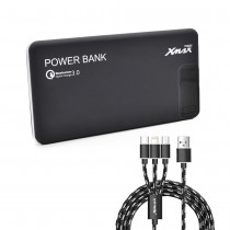 Xmax, PowerBank  12000 Fast Charge, Black/Red/White