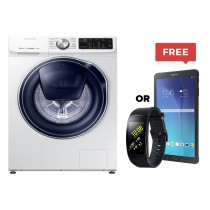 Samsung, Quickdrive Washing Machine With Addwash, White, 9kg With Samsung Tab E or Gear Fit 2