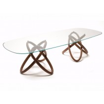Home City, Rounded Dining Table Glass, 240 x 120 cm