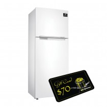 Samsung Top Mounted Refrigerator, Twin Cooling Plus, 453 Liters, 10 Years Warranty, White, With 70$ Spinneys Voucher - RT46K6000WW
