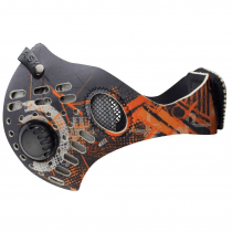 RZ mask, Digi Tech Orange Regular