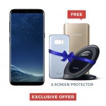 """Samsung Galaxy S8+ Single / Dual Sim 6.2"""" Quad HD+ sAmoled, 64GB, 4GB RAM, 4G LTE, Gold, Black, Orchid Grey - SM-G955"""