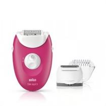 Braun Silk-épil 3 3-410 Epilator - Corded Epilator With 3 Extras, Raspberry Pink