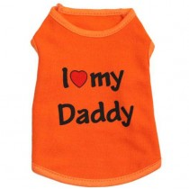 Megoo, I Love My Daddy dog T-shirt, Available in different Colors and Sizes
