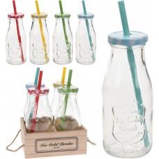 Itemz, Jar Set, 4 Pieces + Straws