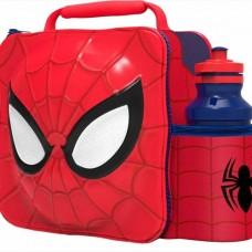 Stor, Spider Man Thermal 3D Lunch Bag Box & Drink Bottle