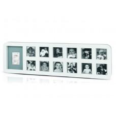 Baby Art, My First Year Print Frame, White & Grey  - 34120085
