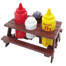 Mr. Bar-B-Q, Picnic Table, Condiment Set