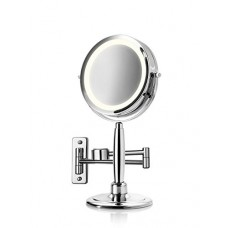 Medisana 3-in-1 Cosmetic Mirror(Make-up mirror), Silver - 026-00040
