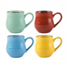 Creative Tops, La Cafetiere, Core Brights Colour, Set of 4 Espresso Mugs