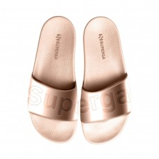 Superga, Sandals With Metallic Upper-Rose Gold