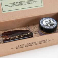 Captain Fawcett, Moustache Wax & Comb Gift Box