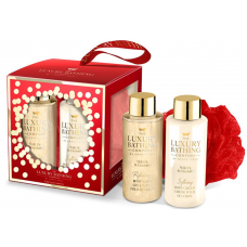 Grace Cole Wild Fig & Cranberry- Tranquil Treats Gift Set, Body Wash 100ml and Body Lotion 100ml with Body Ball
