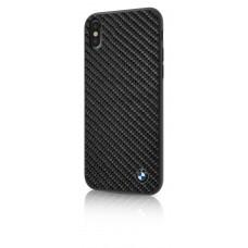 BMW Real Carbon Fiber TPU Hybrid Case for iPhone X- Black