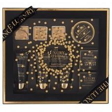 Grace Cole English Pear & Nectarine Blossom- Pure Bliss Gift Set,  Body Wash 100ml , Body Cream 100ml , Foam Bath 100ml, 100g Bar Soap ,  Bath Crystals 100g , Bath Caviar 80g , And Bath Fizzers 3*25g